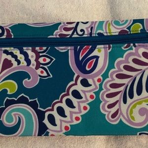 Vera Bradley~Waikiki Paisley pencil pouch